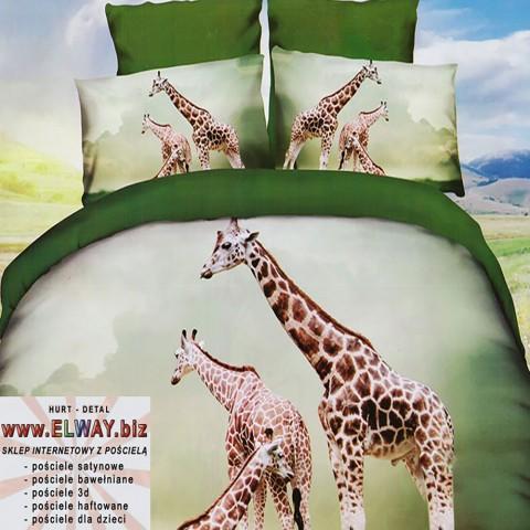 Prześcieradło 3d 160x200 żyrafy