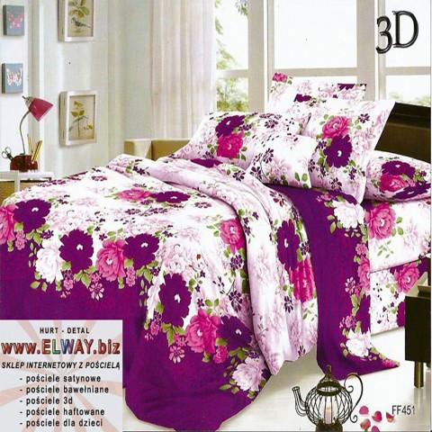 Prześcieradło różowe fioletowe 200x220