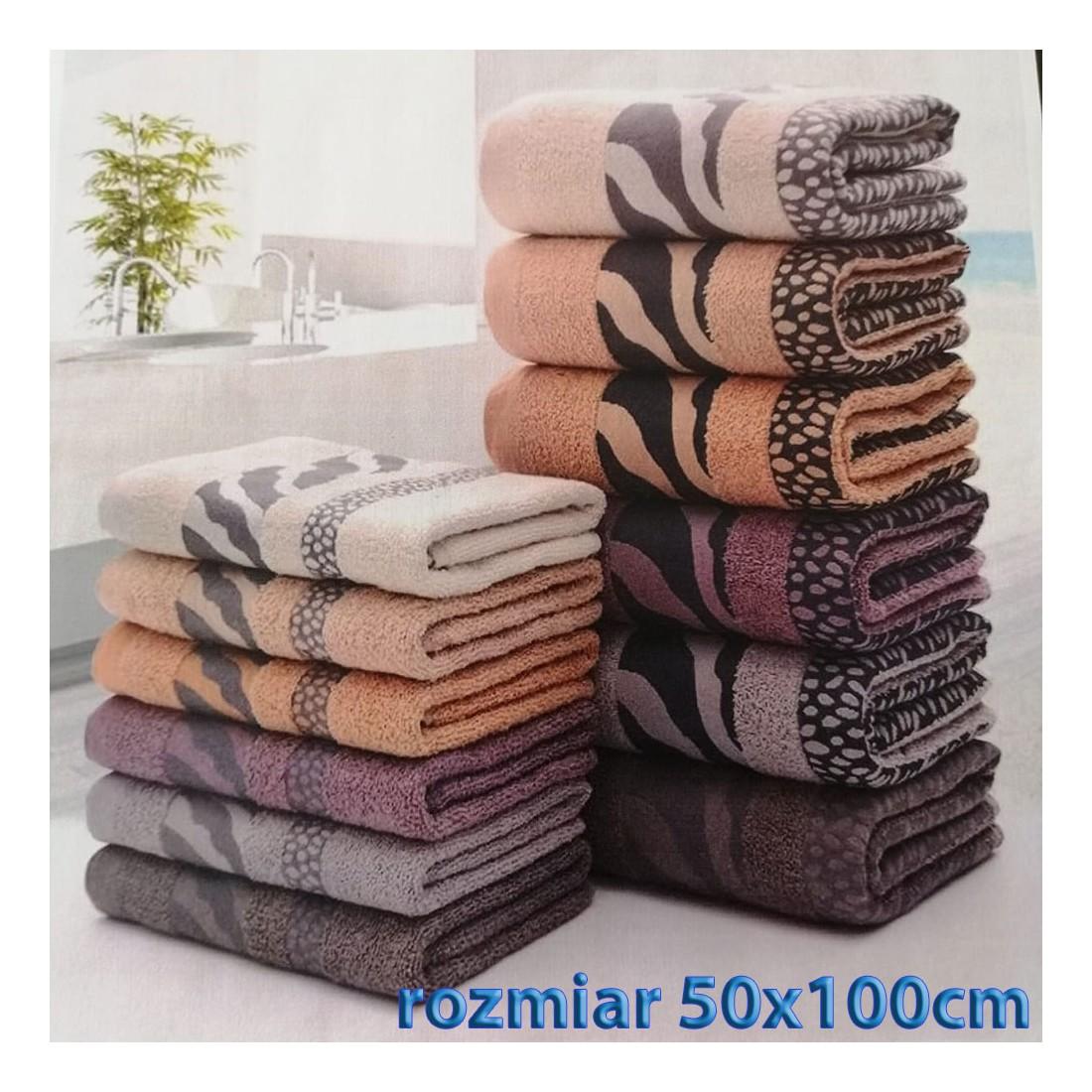 Ręcznik bawełniany frotte 50x100 wz2