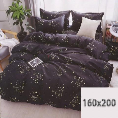 Czarna pościel gwiazdozbiory 200x220