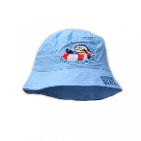 Czapka rybaczka Minionki niebieska 52
