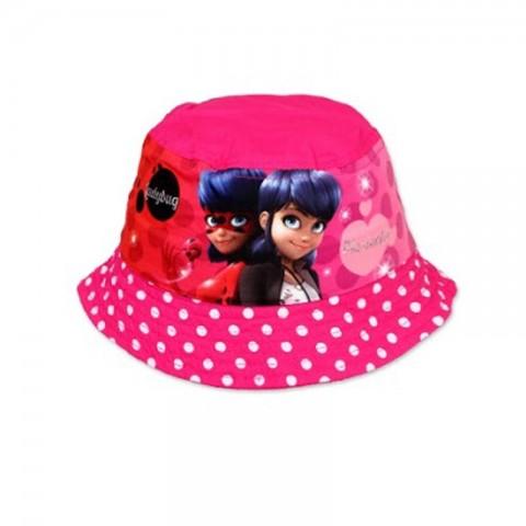 Rybaczka czapka kapelusz Biedronka i Czarny Kot dla dziewczynki