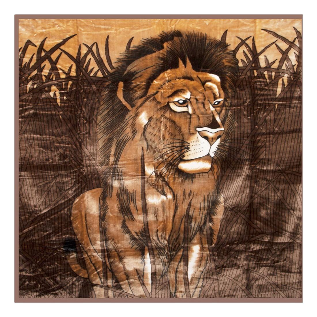 Elway koc 200x240 brązowy lew kod 43
