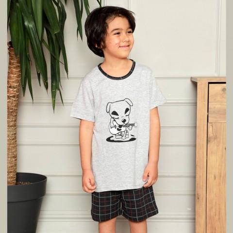 Grafitowa piżamka dla chłopca 134 140 146 152 158 164