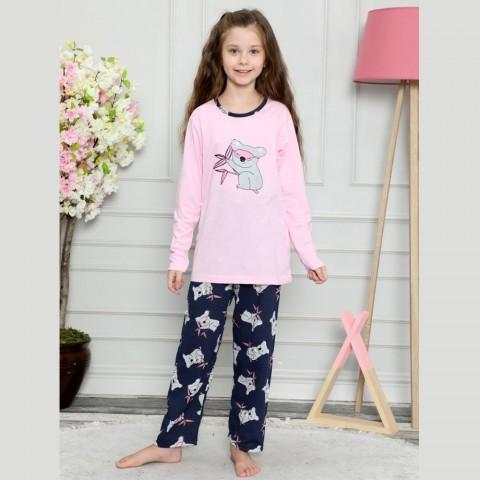 Różowa piżama dla dziewczynki z koalą 122 128 134 140 146 152