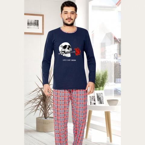 piżama męska długi rękaw M L XL 2XL