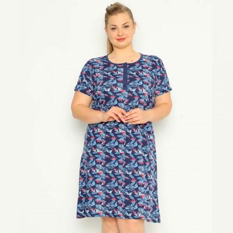 Koszula nocna damska bawełniana tropikalny wzór XL 2XL 3XL 4XL