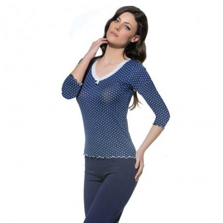 Śliczna piżama damska komplet w intensywnym kolorze M L XL