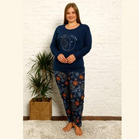 piżama damska długi rękaw plus size XL 2XL 3XL 4XL